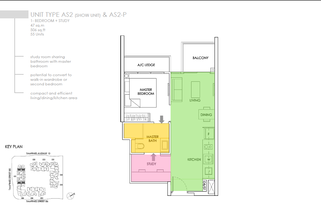the-alps-residences-floor-plan-type-as2-1bed-plus-study