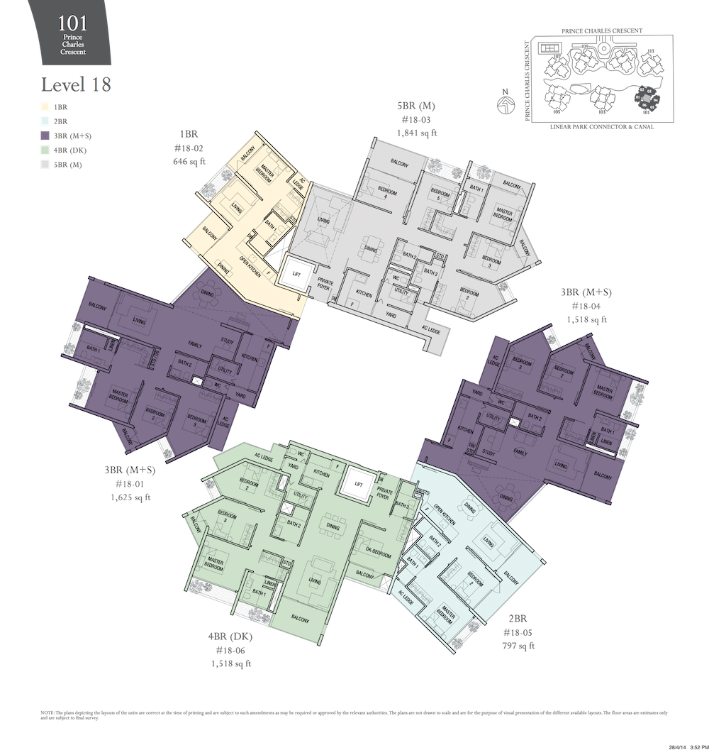 The Crest At Prince Charles Floorplans Sg Top Properties